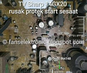 mengatasi tv sharp 14gx rusak protek