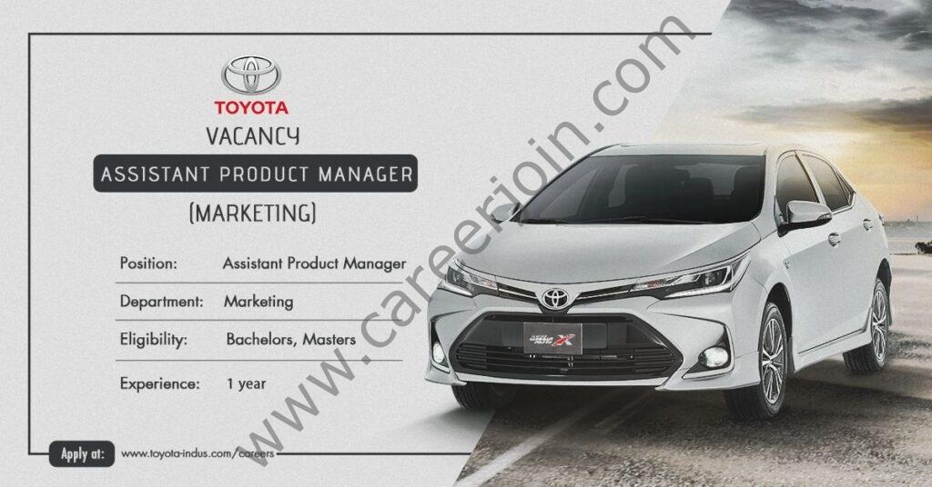 Indus Motor Company Ltd Jobs  2021 in Pakistan