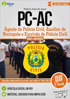 Apostila concurso PC AC 2017 Auxiliar de Necropsia