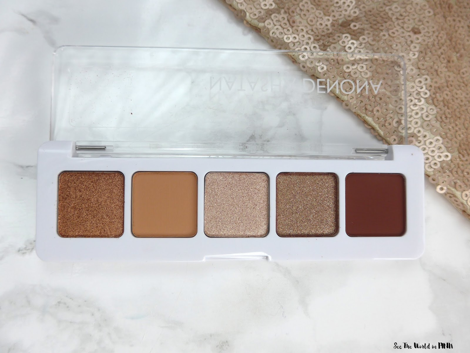 Natasha Denona Mini Nude Eyeshadow Palette - Swatches, Review and Look!