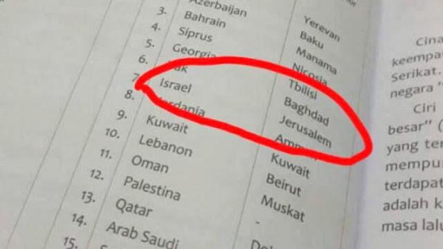 Din Soal Buku SD Sebut Yerusalem Ibu Kota Israel: Memalukan