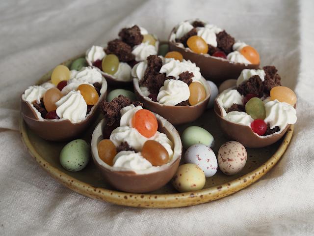 pääsiäinen trifle jälkiruoka