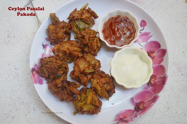 Ceylon Pasalai Pakoda Recipe | Water Leaf Spinach Pakora | Ceylon Spinach Pakora