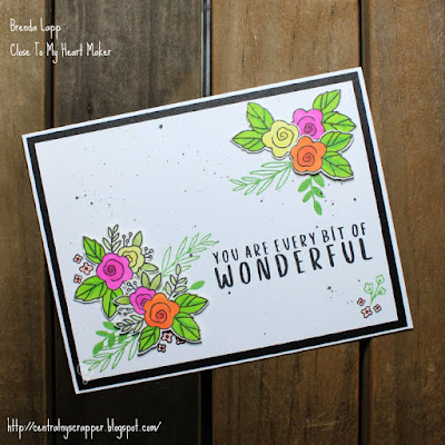 card created for Every Bit of Wonderful Blog Hop
