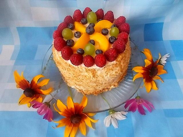 Zimny, lekki, zdrowy....tort arbuzowy.