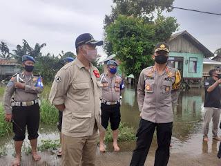 Diguyur Hujan Sejumlah Wilayah Terendam Banjir,Pemkot Jambi Siaga II