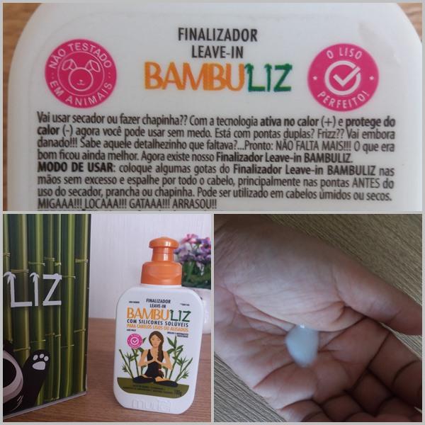 Produtos para cabelo: Finalizador da linha Bambuliz