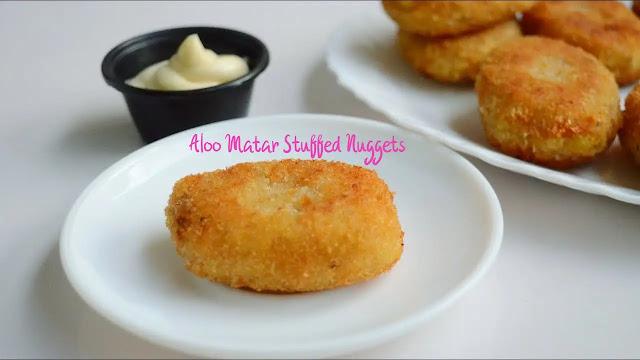 Aloo matar stuffed nuggets easy to make at home