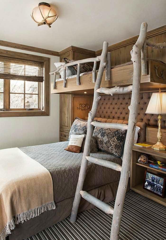 Dormitorios r sticos para ni os ideas para decorar - Cunas rusticas para bebes ...
