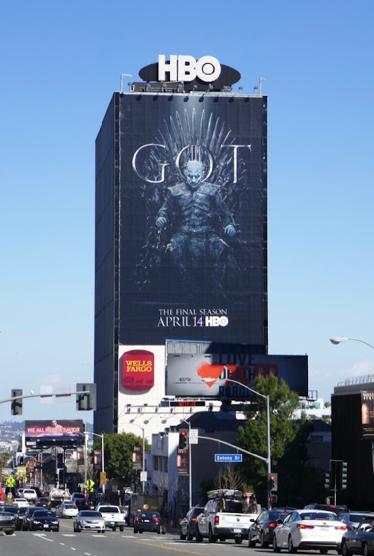 Giant Game of Thrones final season Night King billboard