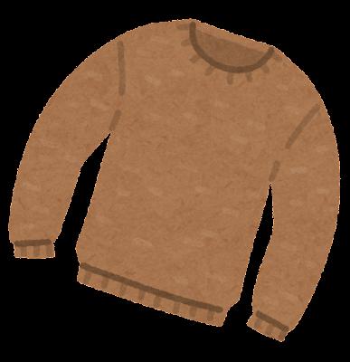 セーターのイラスト(Uネック)