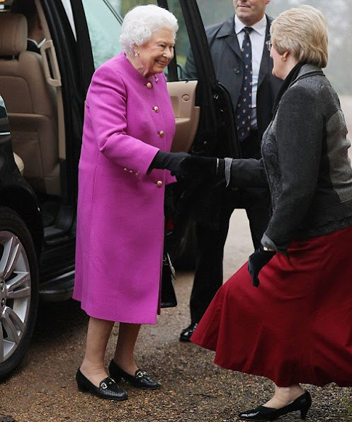 Queen Elizabeth attends Women's Institute meeting at West Newton Village Hall in King's Lynn