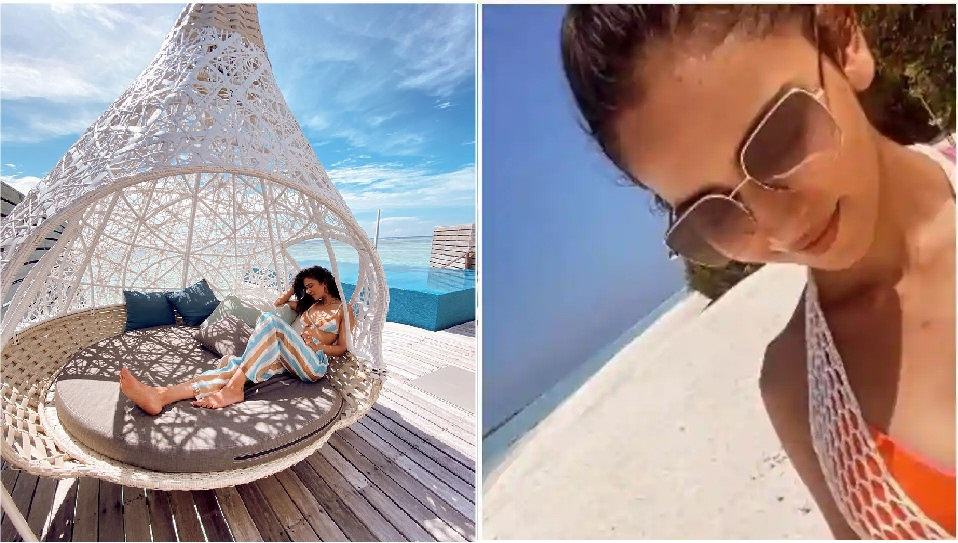 Beauty Queen: Rakulpreet Singh shares fresh pics from the Maldives says shes been waking up early to enjoy stunning blues of the ocean