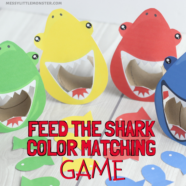feed the shark color matching game