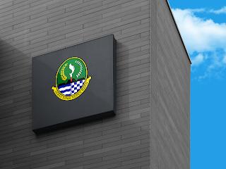 lambang logo provinsi jawa barat di dinding - kanalmu