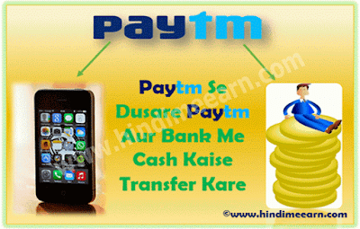 Paytm To Paytm Cash Transfer