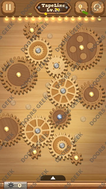 Fix it: Gear Puzzle [TapeLine] Level 28 Solution, Cheats, Walkthrough for Android, iPhone, iPad and iPod