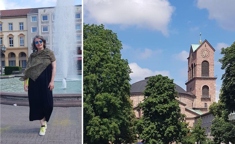 Friedrichsplatz und Stephanskirche in Karlsruhe