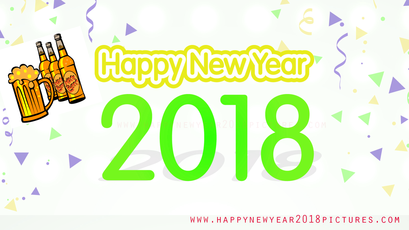 Happy New Year Best 2018 3d Animated Images Greetings Wallpaper