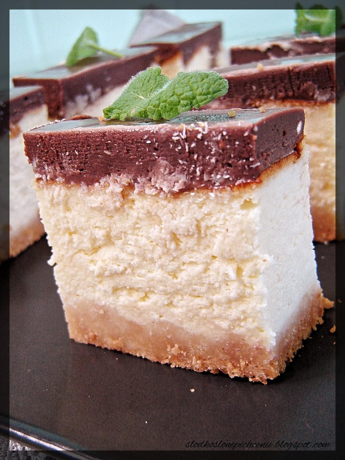 Sernik waniliowo-czekoladowy