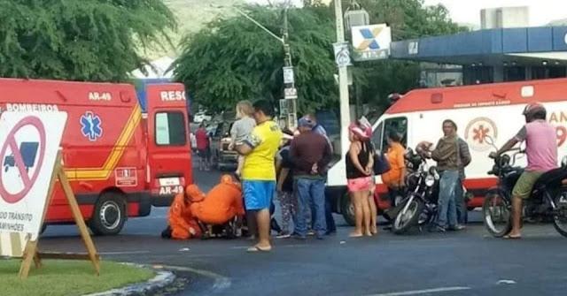 Em Santana do Ipanema, homem fica ferido após colisão entre motocicleta e carro de passeio na BR-316
