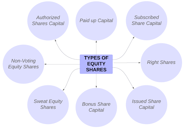 Types of equity shares, equity share types, types of shares - StudyShout