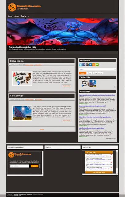 Free Download Template Keren (Dark Template v1) Untuk Blog