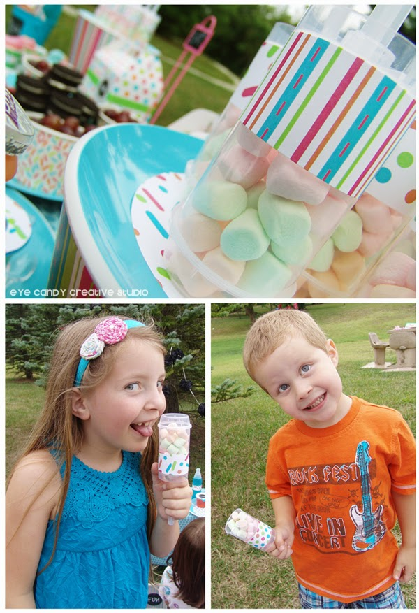 push up pops, mini marshmallows, food ideas for art party picnic