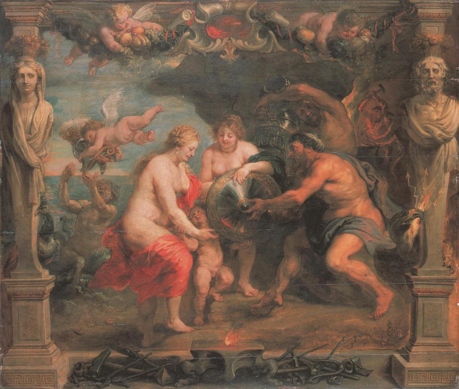 Resultado de imagen de Tetis, Peleo y el nacimiento de Aquiles.