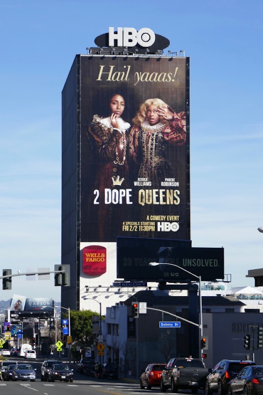 Giant 2 Dope Queens billboard Sunset Strip