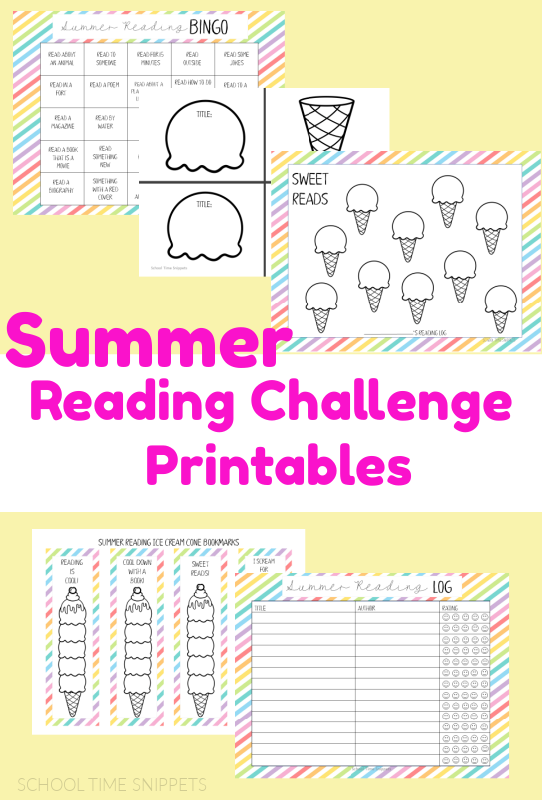 summer reading challenge printables