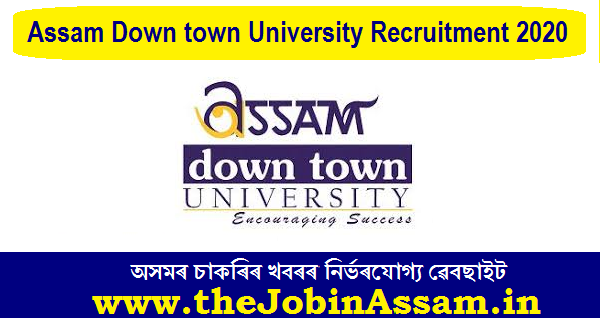 Assam down town University Recruitment 2020