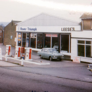 Leese's garage forecourt