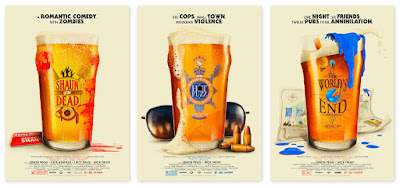 Edgar Wright's Cornetto Trilogy Print Series by Patrick Connan x Vice Press