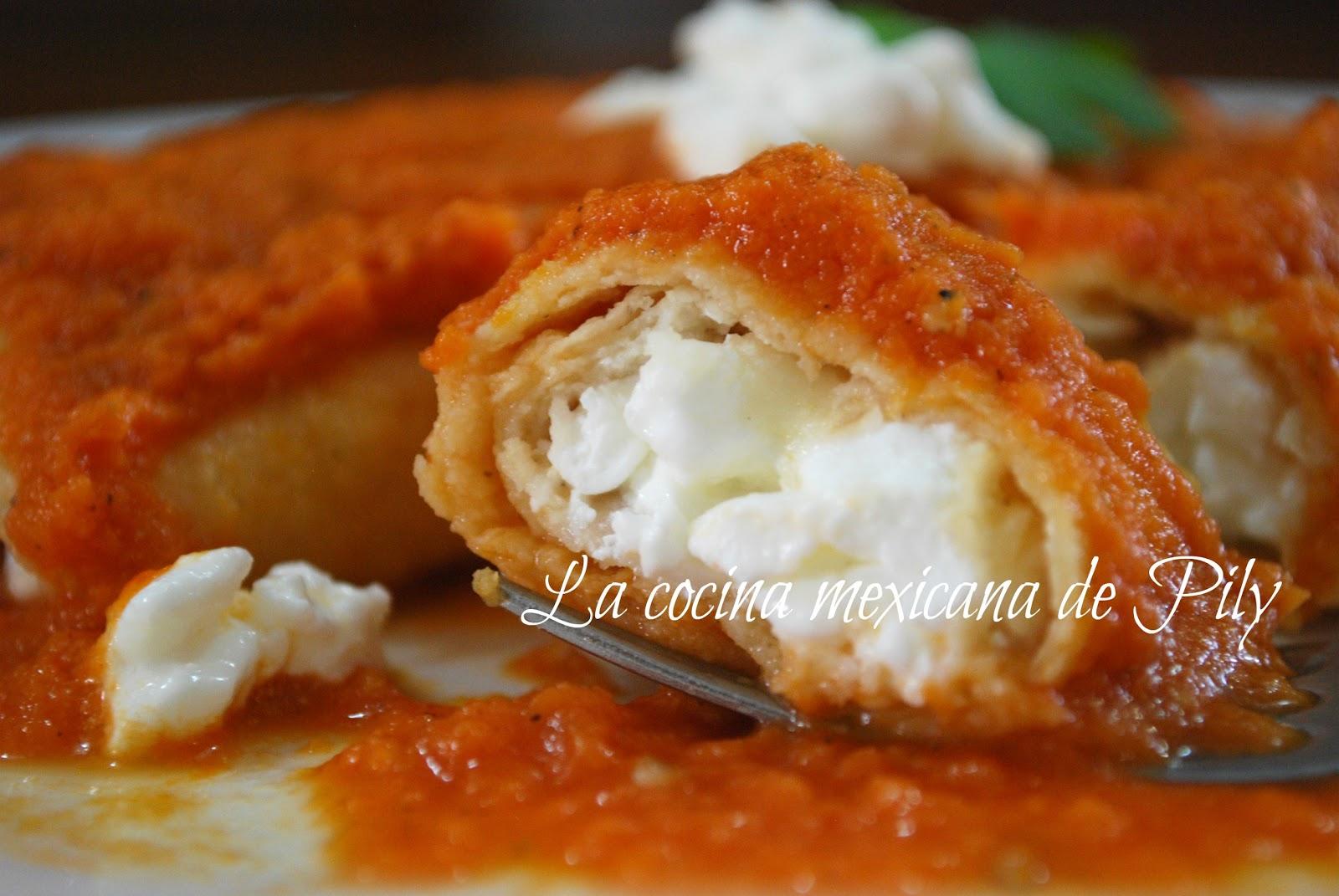 Enchiladas ligth de queso cottage al chipotle | La Cocina ...