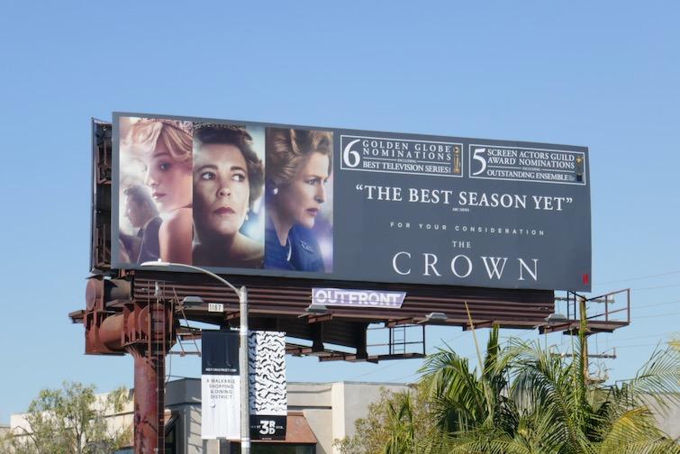 Crown season 4 awards nominee billboard