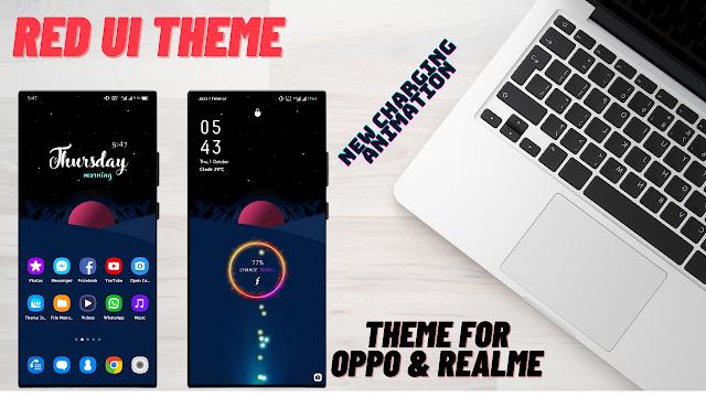 Chủ đề Red UI (Dark) cho oppo và Realme || Chủ đề Oppo || Chủ đề Realme ||