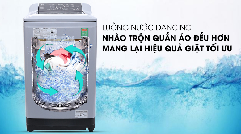 Luồng nước Dancing - Máy giặt Panasonic 9 kg NA-F90A4BRV