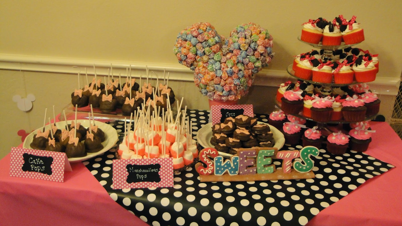 Mortashedmedley Minnie Mouse 1st Birthday Party