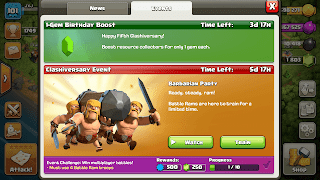 Clash of Clans event tabs
