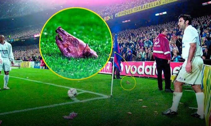Khoảnh khắc Luis Figo bị ném đầu lợn ở Camp Nou