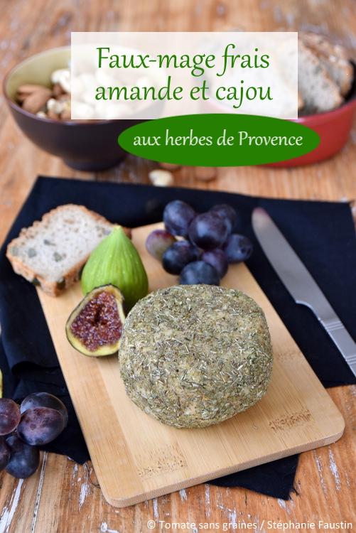 Faux-mage frais amande-cajou enrobé d'herbes de Provence