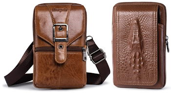60% OFF Mens leather bags, pouhces and phone holster!