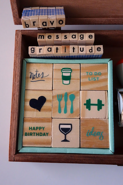 Cigar box, craft stamps, crafting box, planner, journal, ink pad, carft supplies, wooden box