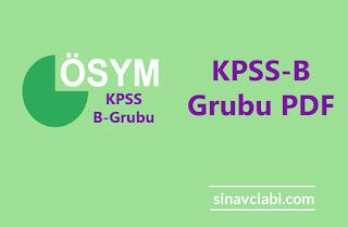 KPSS-B Grubu PDF 2020
