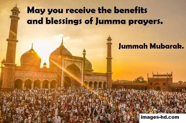 may you receive benefits of jumma Mubarak
