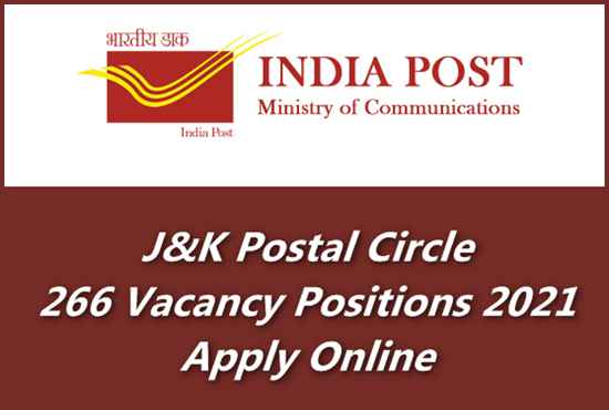 J&K Post Office Over 266 GDS Vacancy Positions