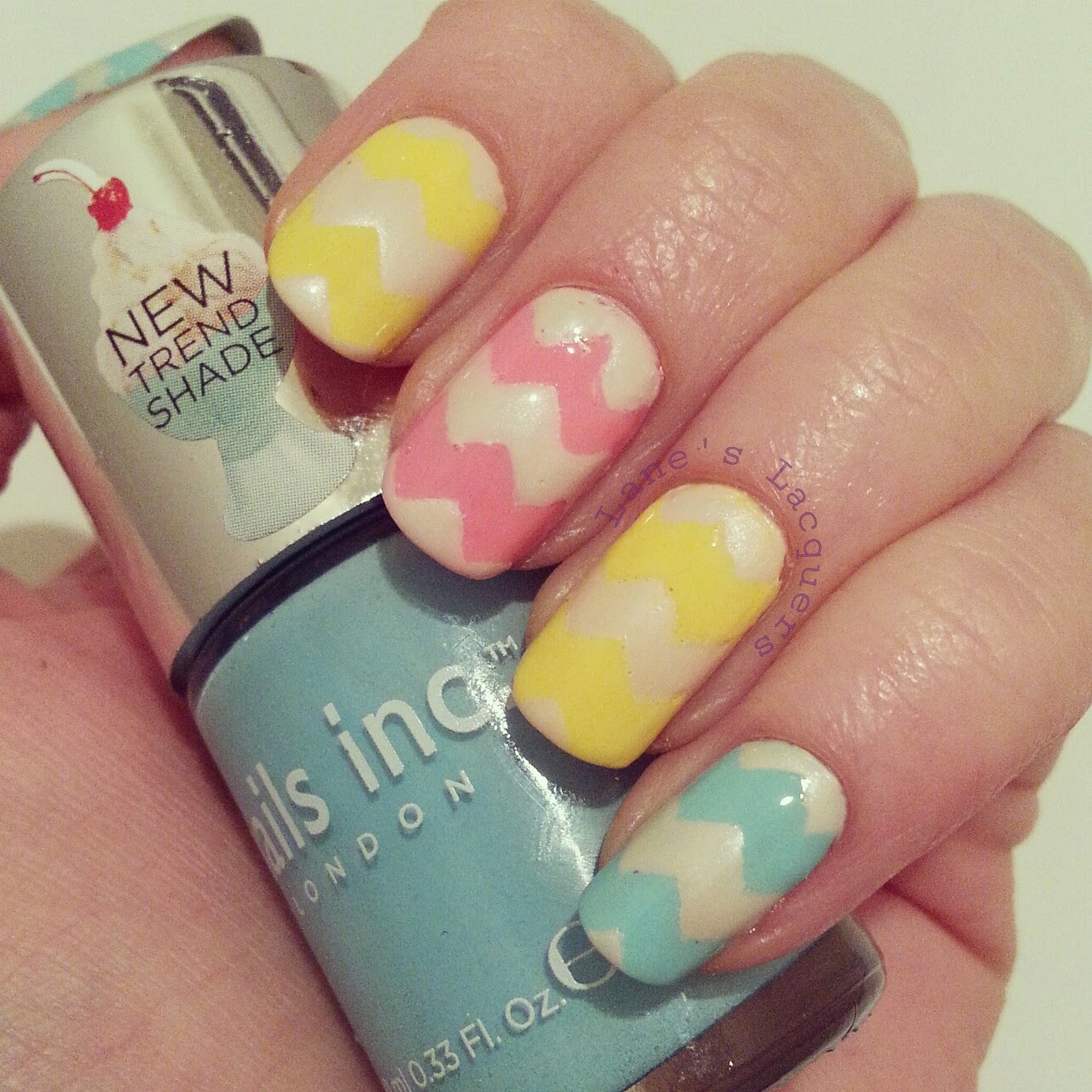 Lane S Lacquers Tpc Pink Blue Yellow