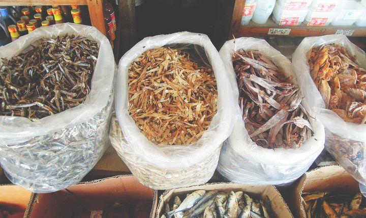 Dried fish pasalubong from Baler