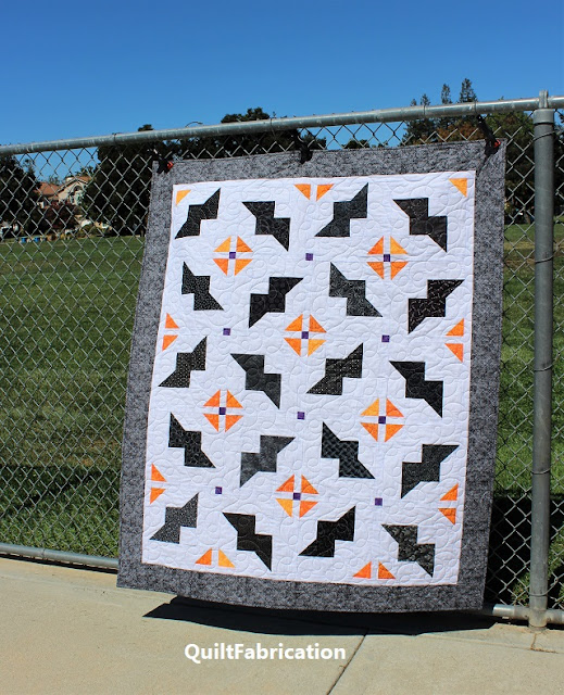Just Batty quilt by QuiltFabrication